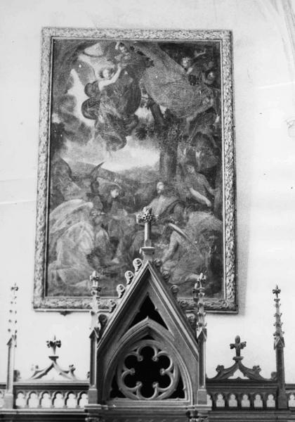 Tableau : Le Christ au désert servi par les anges