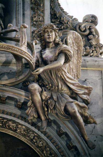 autel, retable, 5 statues, tableau : L'Annonciation (maître-autel)