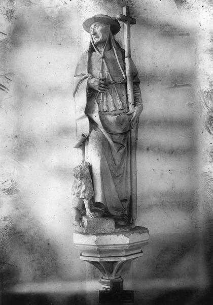 trois statues : saint Jérôme, saint Grégoire, saint Augustin
