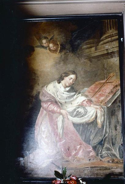 tableau : saint Louis recevant la sainte Couronne d'épines
