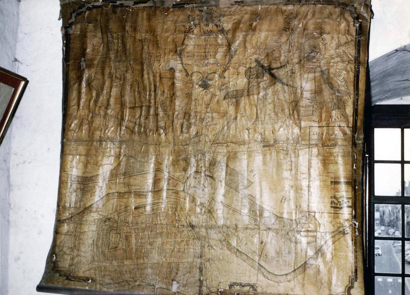 plan des possessions des Célestins de Sens à Villeneuve