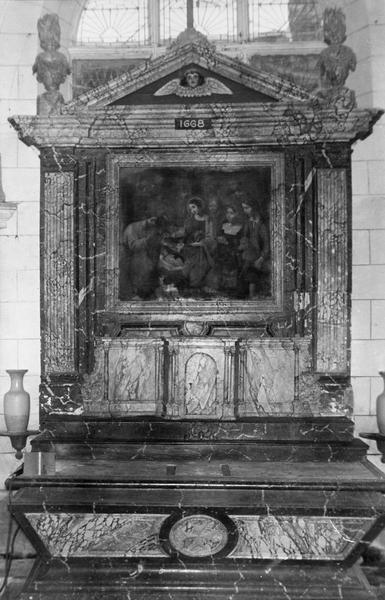 autel, retable, tableau : L'Adoration des bergers (maître-autel)