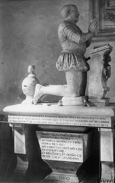 tombeau de Louis de Chastellux, gouverneur de Marsal et de Metz