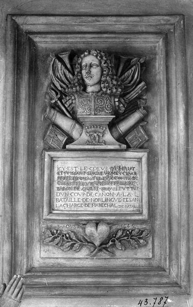 tombeau du coeur de César-Pierre de Chastellux, maréchal de France