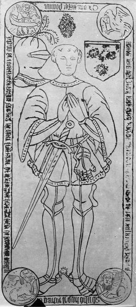 dalle funéraire de Jean de Courtenay, seingeur de Chevillon
