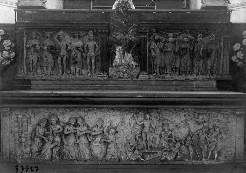 autel, bas-relief (maître-autel)