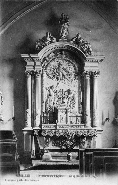 autel et retable de la chapelle de la Vierge