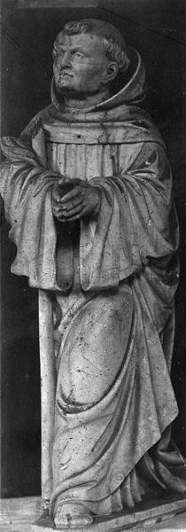 statuette : moine en prière