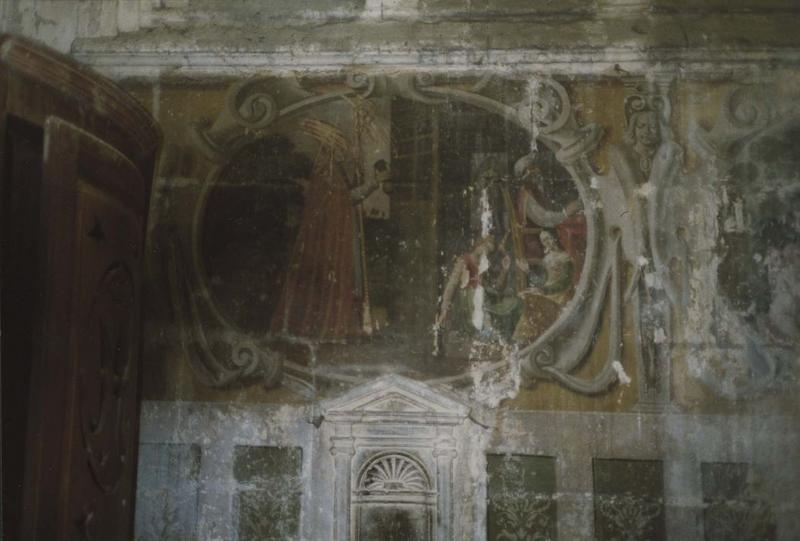 peinture monumentale, vue partielle ; peintures monumentales : scènes de la vie de saint Nicolas, détail
