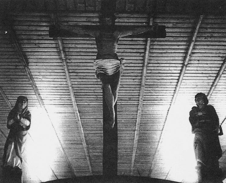 calvaire : Le Christ en croix avec la Vierge et saint Jean, vue générale