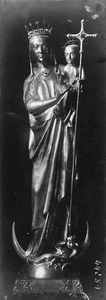 Statuette: Vierge à l'enfant, vue générale