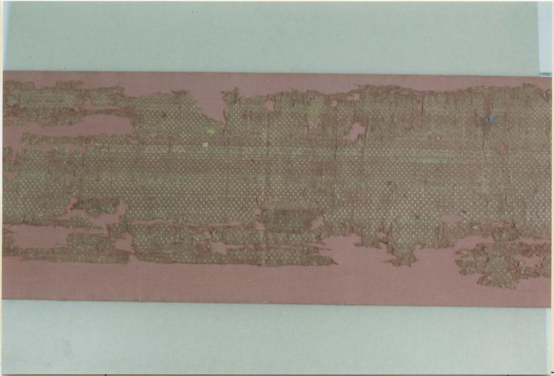 Tissu (fragment): suaire de saint Savinien, détail