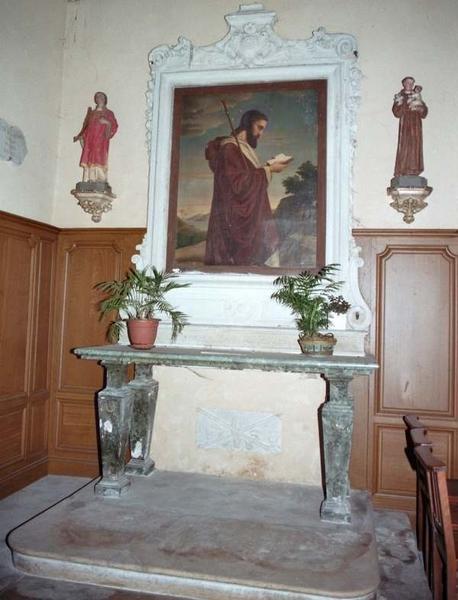 autel et son retable (autel latéral nord)
