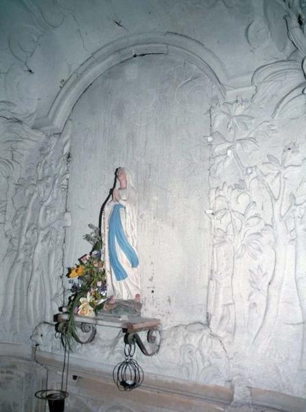 Revêtement mural : décor stuqué de la chapelle des fonts baptismaux