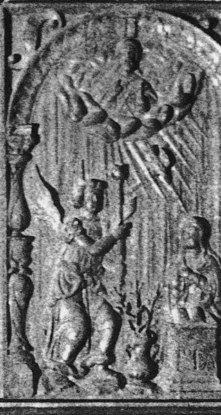 Bas-relief : l'Annonciation, vue générale