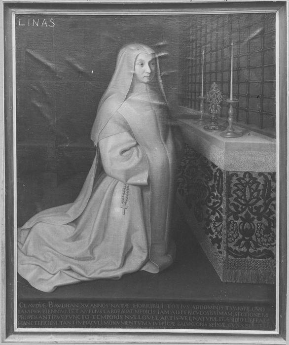Tableau : portrait de Claude Baudran, religieuse de Port-Royal