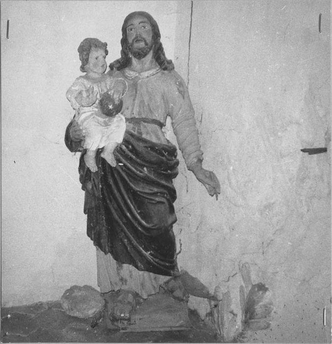 Statue : Saint Joseph portant l'Enfant Jésus