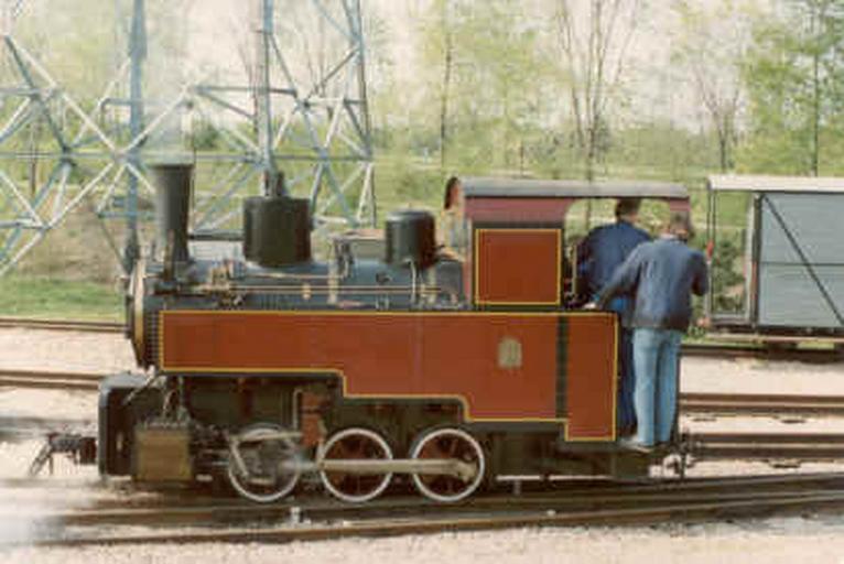 Locomotive à vapeur Decauville 020T - Progrès n° 869, dite La Bouillotte en voie 60.