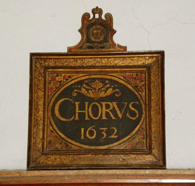 Cinq peintures (panneaux peints) de l'ancienne chaire : chorus