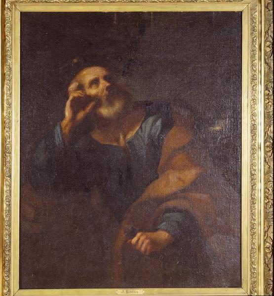 Tableau : Saint Pierre en méditation