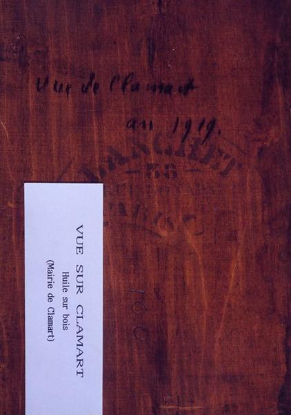 Tableau n°100 : Vue sur Clamart, revers