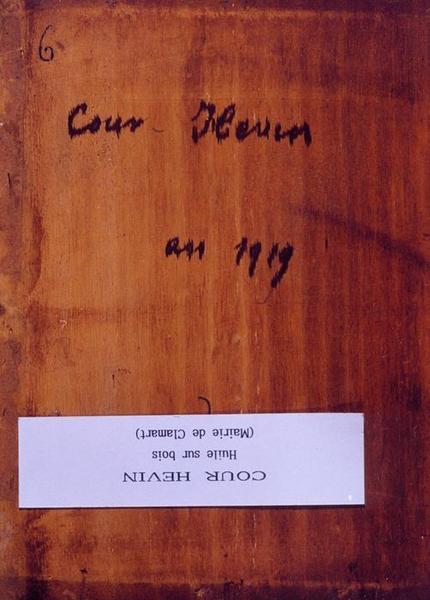 Tableau n°22 : Cour Hévin, revers
