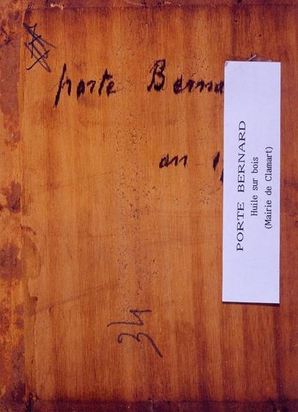 Tableau n°34 : Porte Bernard, revers
