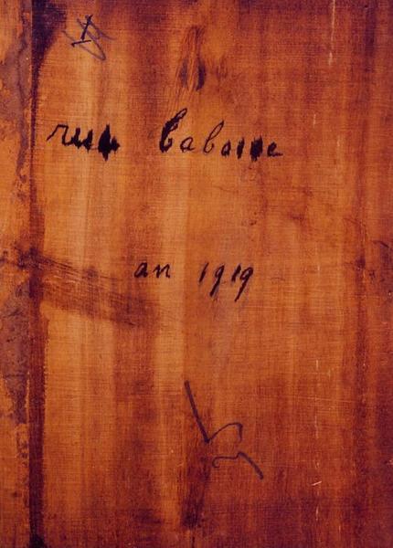 Tableau n°35 : Rue Taboise, revers