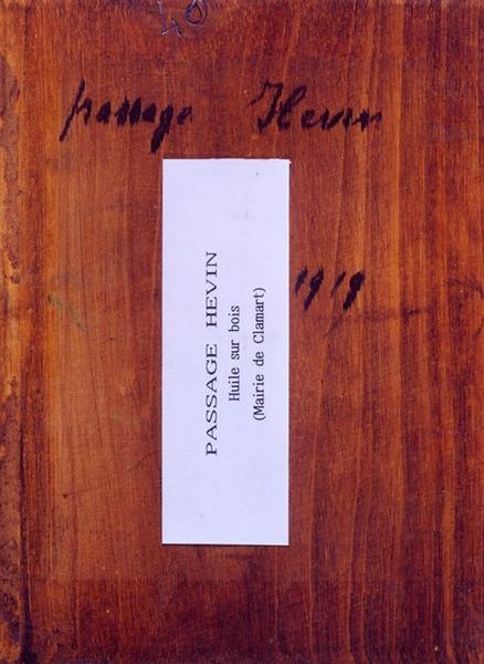 Tableau n°40 : Passage Hévin, revers