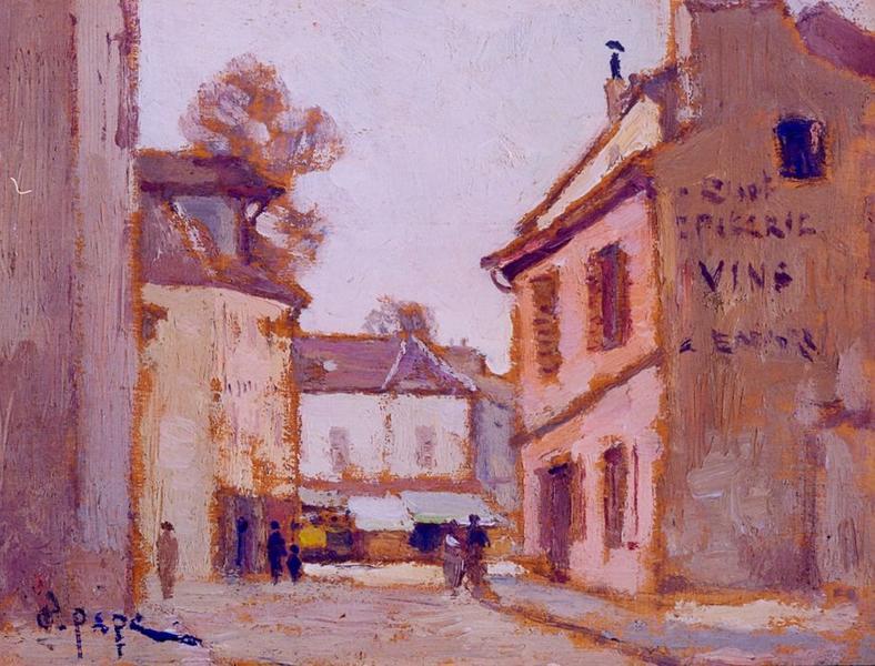 Tableau n°41 : Rue Chef de Ville, avers