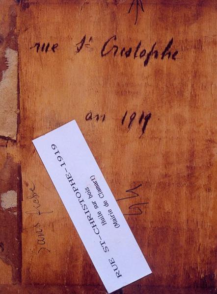 Tableau n°44 : Rue Saint-Christophe, revers