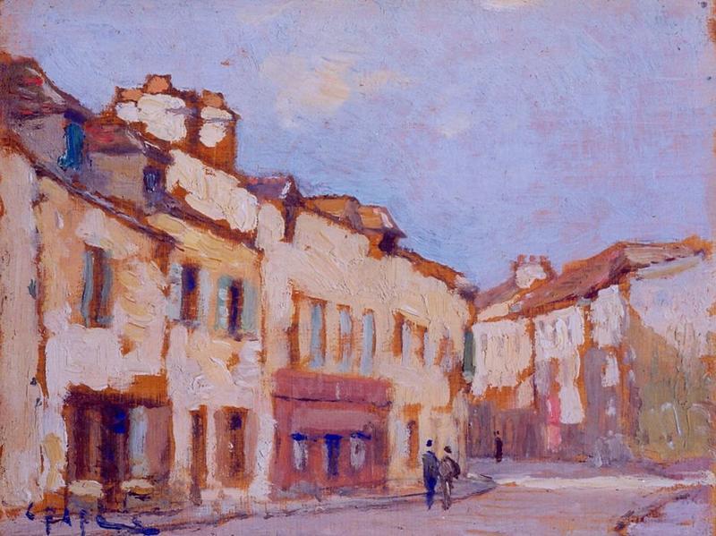 Tableau n°45 : Rue Chef de Ville, avers