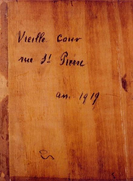 Tableau n°50 : Vieille cour Saint-Pierre, revers