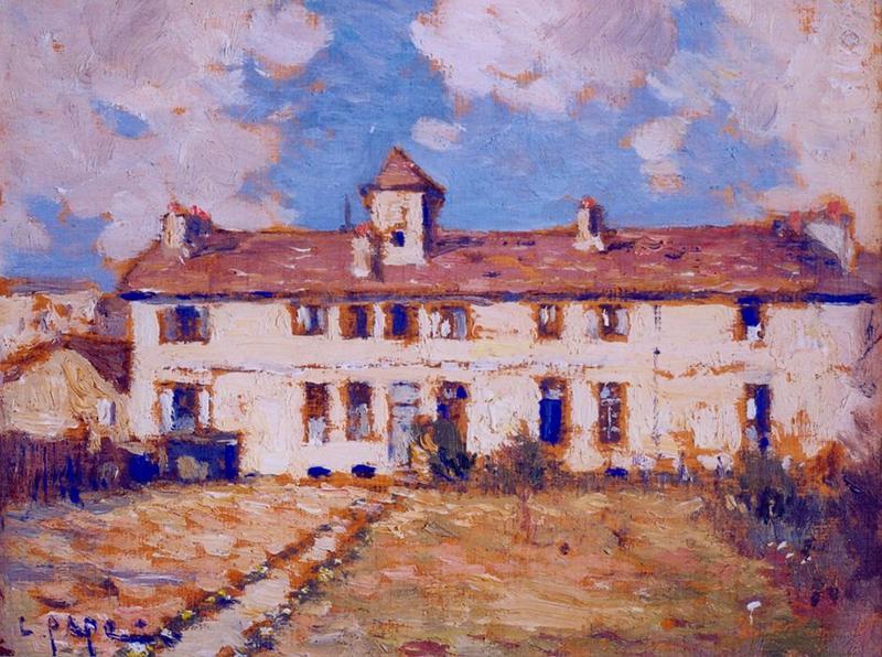 Tableau n°6 : Vieux château rue Chef de Ville, avers