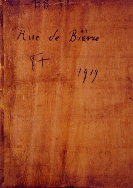 Tableau n°87 : Rue de Bièvres, revers