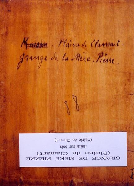Tableau n°88 : Grange de la Mère Pierre (plaine de Clamart), revers