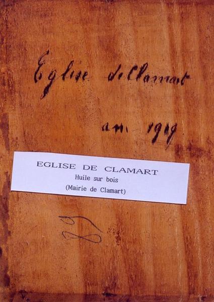 Tableau n°89 : Eglise de Clamart, revers