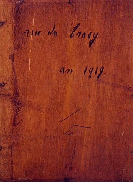 Tableau n°91 : Rue de Trosy, revers