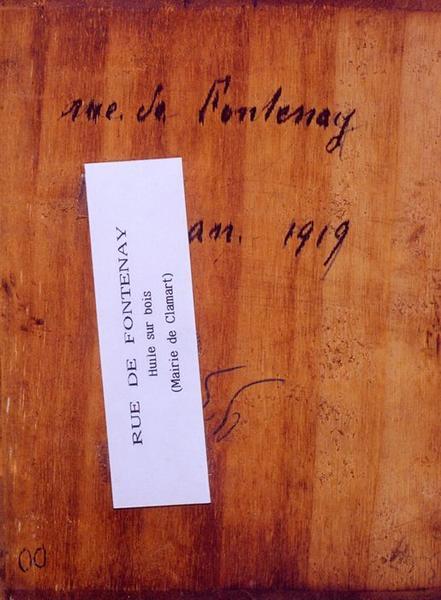 Tableau n°93 : Rue de Fontenay, revers