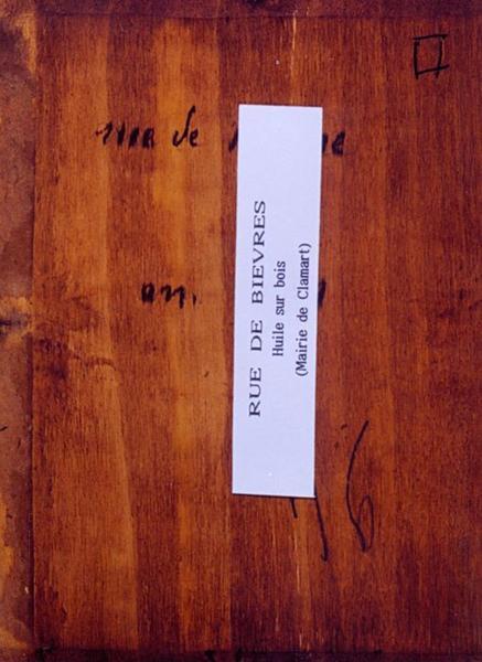 Tableau n°94 : Rue de Bièvres, revers