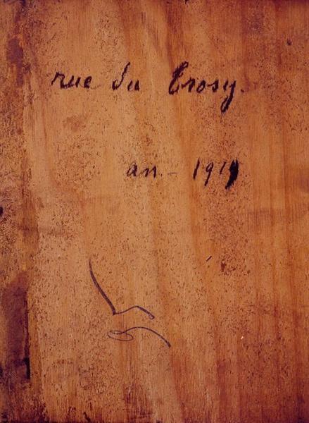 Tableau n°95 : Rue de Trosy, revers