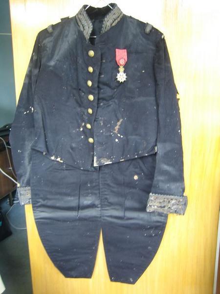 Ensemble d'un costume militaire(costume d'apparat) : veste