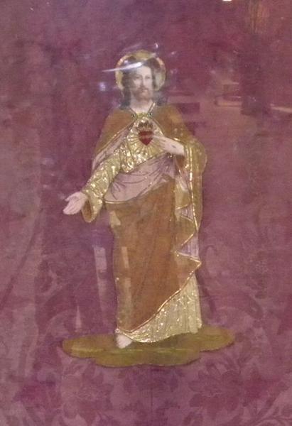 Bannière de procession du Sacré-Coeur: détail du motif central