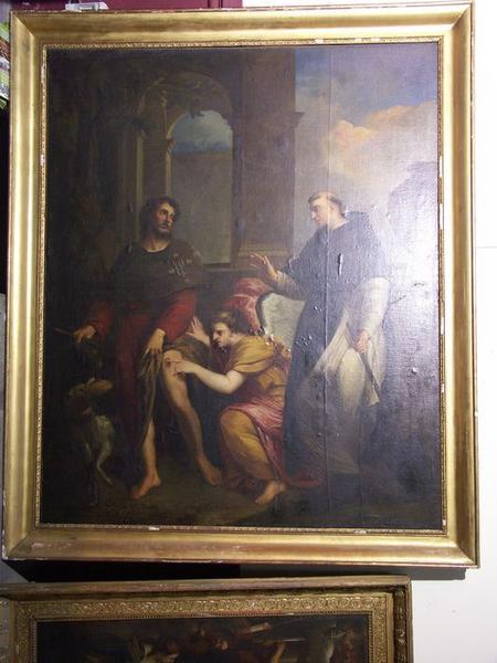 Tableau : saint Roch et saint Fiacre