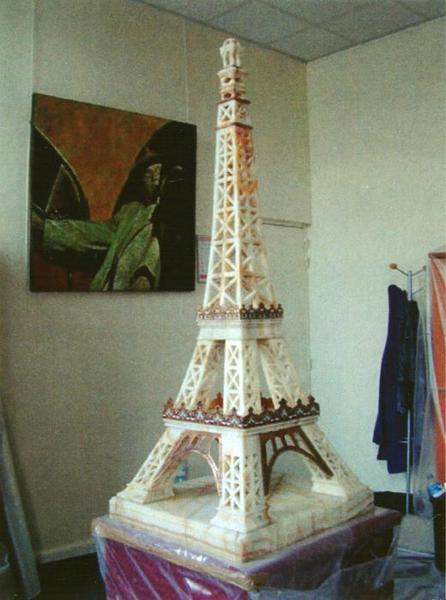 Maquette : Tour Eiffel: vue générale