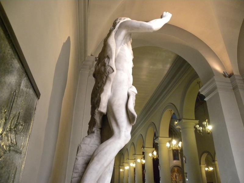 Statue : Saint Jean-Baptiste: vue du coté droit