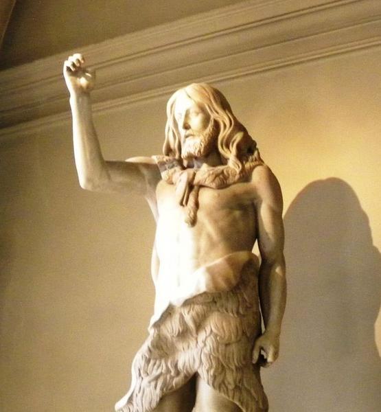 Statue : Saint Jean-Baptiste: vue trois quart gauche