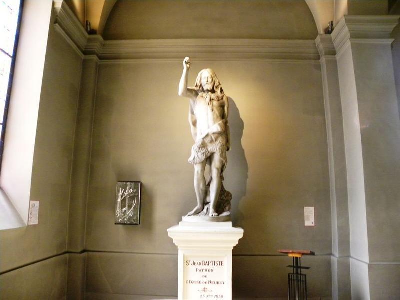 Statue : Saint Jean-Baptiste: vue de face
