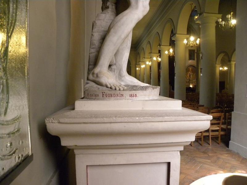 Statue : Saint Jean-Baptiste: détail de la signature