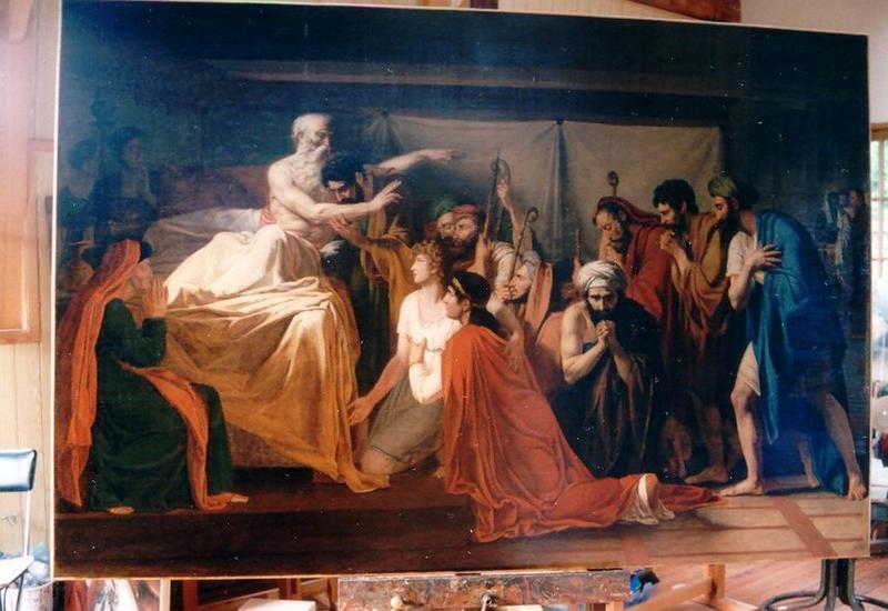 Tableau : Jacob bénissant ses enfants